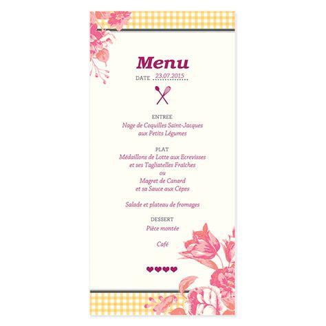 cuisine du bonheur fr la recette du bonheur menu de mariage vintage à fleurs