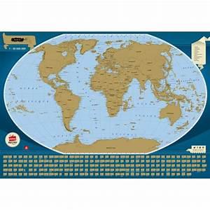 Carte Du Monde à Gratter Maison Du Monde : carte du monde gratter planisph re en fran ais cadeau maestro ~ Teatrodelosmanantiales.com Idées de Décoration