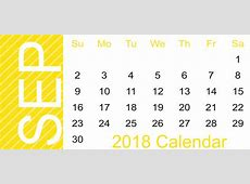 Free September 2018 Landscape & Portrait Calendar Template