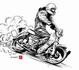 Doodle Dirt Quake Motorcycle Ii Honda Cars Bike Sideburn Poster Motorrad Magazine Kunst Animasi Manga Cub 99seconds Fahrradkunst Finken Aufkleber sketch template