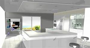 faux plafond cuisine spot faux plafond pour salon demo With eclairage faux plafond cuisine