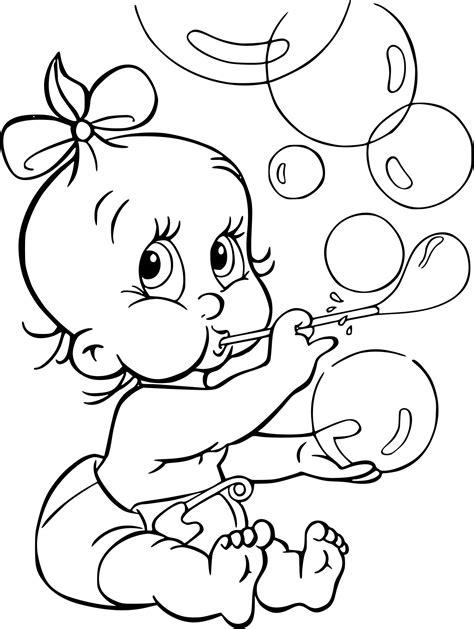 Colorie le chemin de dalles rondes. Coloriage Bébé fille à imprimer sur COLORIAGES .info
