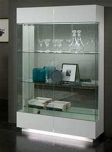 Vitrine Blanc Laqué : vitrine 2 portes lux laque blanc ~ Teatrodelosmanantiales.com Idées de Décoration