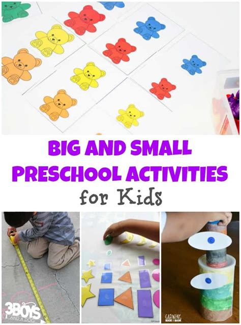 big and small preschool activities for 3 boys and a 143 | Big and Small Preschool Activities for Kids
