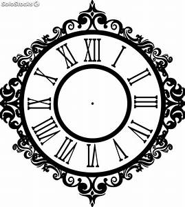 Reloj vintage números romanos w:104cm X h:116 cm