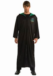 adult slytherin house robe mens authentic harry potter robes With robes housses