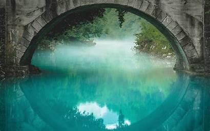 5k Bridge Under Wallpapers Wide Retina River