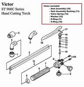 Victor St900c  U0026 St900fc Cutting Torch Rebuild  Repair Parts Kit
