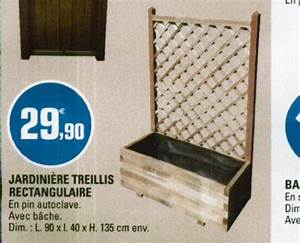 Jardinière En Bois Pas Cher : jardiniere avec treillis bois free jardinire rserve dueau ~ Dailycaller-alerts.com Idées de Décoration