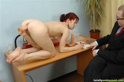 Embarassing Naked Job Interview For Sloppy Secretary
