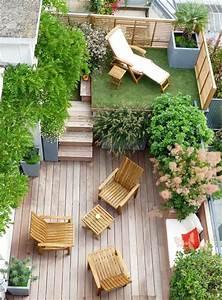 Objet Deco Exterieur : idee deco jardin terrasse id e de d co ~ Carolinahurricanesstore.com Idées de Décoration