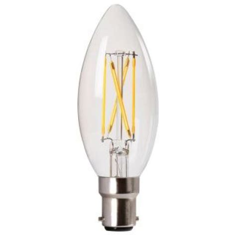 clear filament led candle household light bulb sbc
