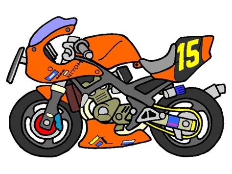 Free How To Draw A Cartoon Motorcycle, Download Free Clip