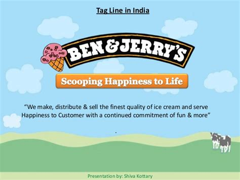 Ben & Jerry Ice cream Marketing Presentation