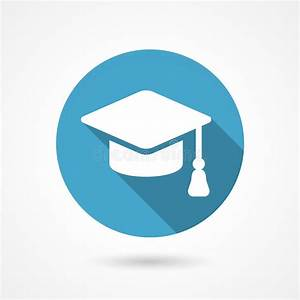 Graduation cap icon stock vector Illustration of board