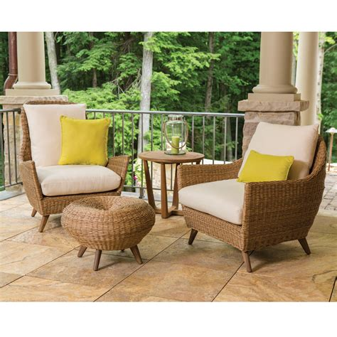 Lloyd Flanders Patio Furniture Covers by Lloyd Flanders Tobago Vinyl Wicker Lounge Chair Set Lf