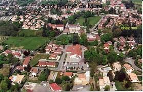 But St Bonnet De Mure. plan saint bonnet de mure carte de saint ...