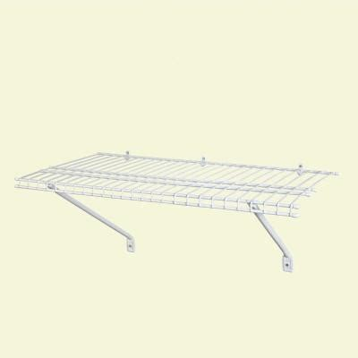 How To Hang Closetmaid Wire Shelving - closetmaid 3 ft x 12 in ventilated wire shelf kit 1031