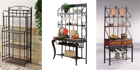 wrought iron bakers rack wrought iron bakers rack bakers racks collection