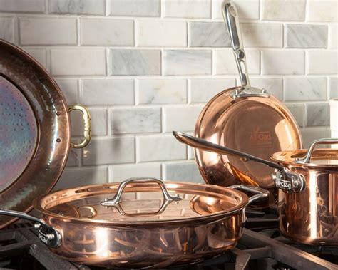 clean copper pans  kitchenware wayfair