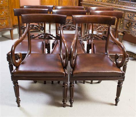 mahogany dining sets antique regency mahogany dining chairs set of 8 c 1820 3951