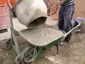 comment faire du beton avec une betonniere youtube With faire de la poterie a la maison