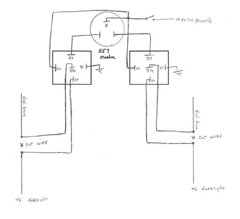 Wig Wag Flasher Relay Wiring Diagram by Home Made Wig Wag F150online Forums