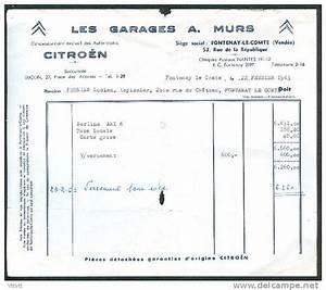 Citroen Fontenay Le Comte : facture 1963 murs garage citroen fontenay le comte 85 vend e achat voiture ami 6 taxe ~ Gottalentnigeria.com Avis de Voitures