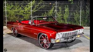 """Candy Red 1966 Chevrolet Impala SS on 24"""" Forgiato Wheels ..."""