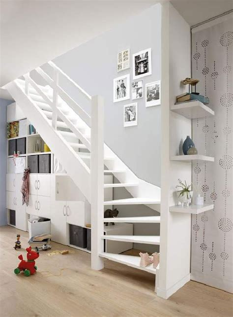 cabinet stairs private house stylish practical solutions simple design