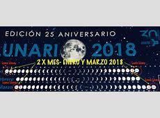 Dos Lunas llenasenero y marzo 2018 Fundación CIENTEC
