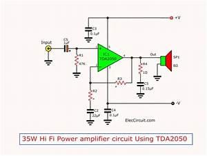 Tda2050 Amplifier Stereo 35w