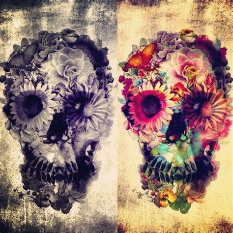 flower skull tats  love pinterest flower skull tattoo  piercings