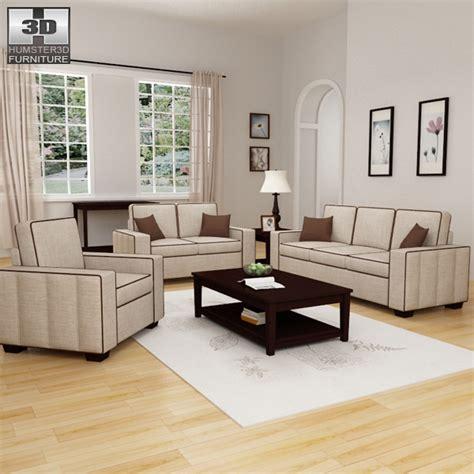 Model Living Room Set by Living Room Furniture 07 Set 3d Model Furniture On Hum3d