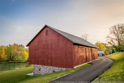 Barn Roofing building showcase farmstead with medium bronze metal roof