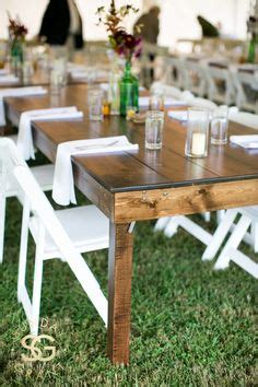 apres party  tent rental farm table  white wood