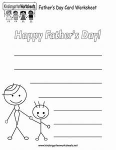 Father's Day Card Worksheet - Free Kindergarten Holiday ...