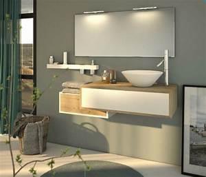 Meuble Salle De Bain Asymétrique : meuble salle de bain 2 tiroirs une vasque fabrication fran aise jacou w10 carrelage design ~ Nature-et-papiers.com Idées de Décoration