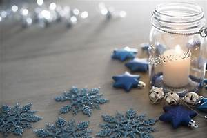 Creative Christmas Lights Photo Of Festive Blue Themed Christmas Party Table Free