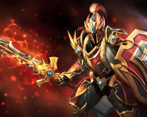 dota  heroes dragon knight sword shield shield initiator