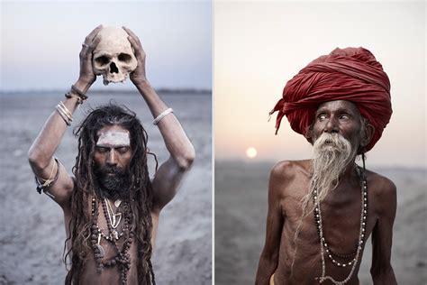 ritratti sublimi  santoni indiani del fotografo joey