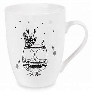 Tasse à Café Maison Du Monde : mug motif hibou en porcelaine nagawika maisons du monde ~ Teatrodelosmanantiales.com Idées de Décoration
