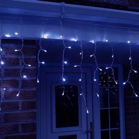 led icicle lights reviews 10 metre led icicle lights in blue connectable 320 led 39 s