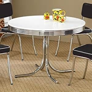amazon kitchen furniture amazon com coaster retro dining kitchen table in chrome white dining room furniture sets
