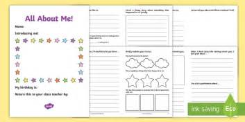 Uks2 All About Me Transition Booklet  New Class Transition