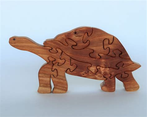 Tortoise Wooden Puzzle Scroll Saw Pattern Diy Woodworking