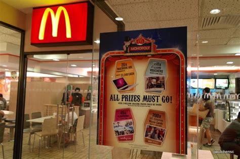 Mcdonald's Monopoly Singapore Game 2011