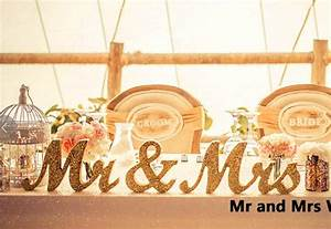 Aliexpresscom buy 3pcs set bling bling gold mr mrs for Mr and mrs wooden letters for weddings