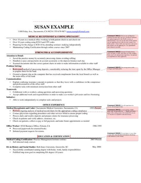 best receptionist resume template