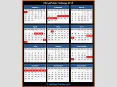 China Public Holidays 2018 – Holidays Tracker
